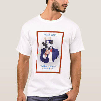 Boston Terrier 4th of July T-Shirt