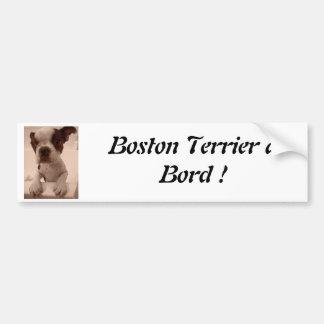 Boston Terrier à Bord Adhésif Pour Voiture