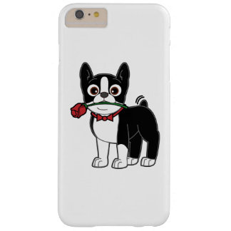 Boston Terrier American Gentleman with Rose Barely There iPhone 6 Plus Case