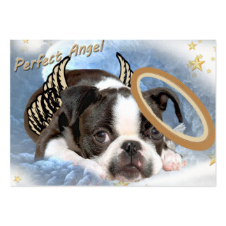 Boston Terrier Angel Apparel and Gifts Business Cards