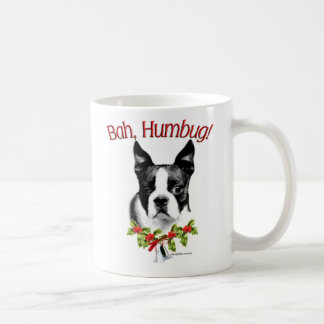Boston Terrier Bah Humbug Coffee Mug