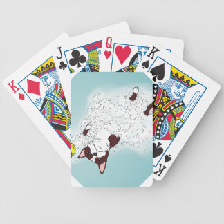 Boston Terrier Bath Bicycle Playing Cards
