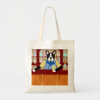 Boston Terrier Beer Pub Tote Bag