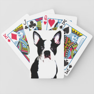 Boston Terrier Bicycle Playing Cards