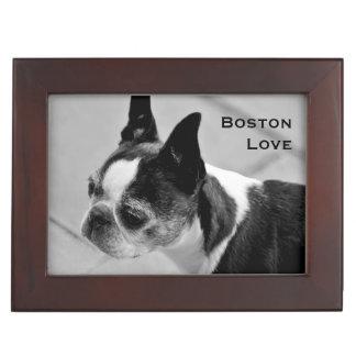 Boston Terrier Black and White Keepsake Box