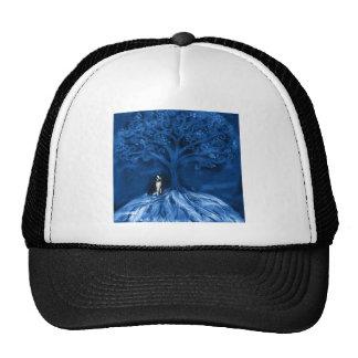 Boston terrier blue mesh hats