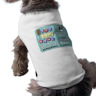 Boston Terrier Bowling Tiki Night Doggie Tshirt