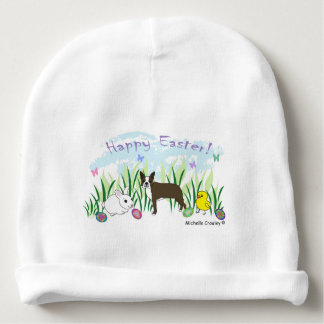 boston terrier brown baby beanie