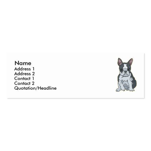 Boston Terrier Business Card Templates