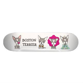 BOSTON TERRIER by Kakurai missile Skate Board