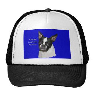 Boston Terrier:  Can't hold her licker Trucker Hat