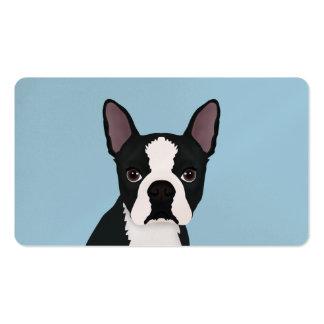 boston terrier cartoon business card