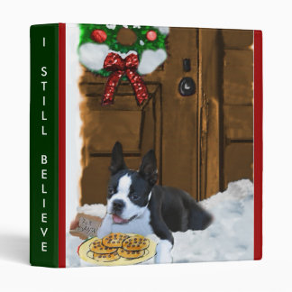 Boston Terrier Christmas Gifts 3 Ring Binder