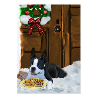 Boston Terrier Christmas Gifts Business Card Template