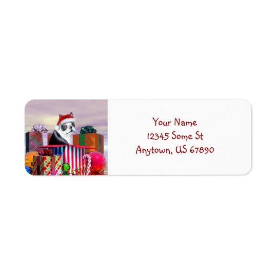 Boston Terrier Christmas Surprise Labels