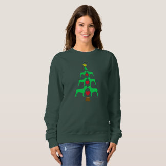 Boston Terrier Christmas Tree Sweatshirt