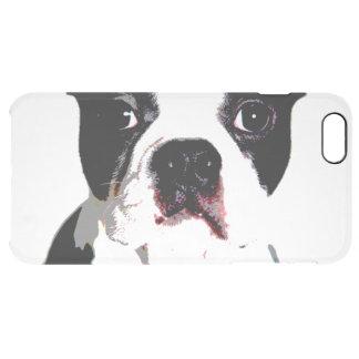 Boston Terrier Clear iPhone 6 Plus Case