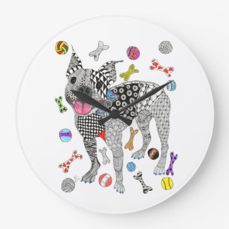 Boston Terrier Clock (You can Customize)