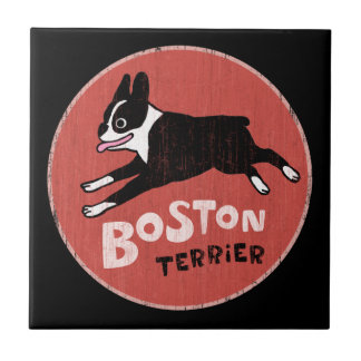 Boston Terrier Cool Retro Style Tile