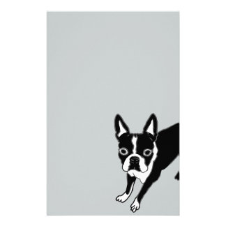 Boston Terrier Customized Stationery
