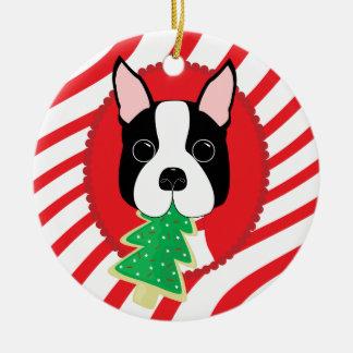 Boston Terrier Cute Dog Ornament
