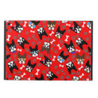 Boston Terrier Cute Moustache Funny Faces iPad Air Cover