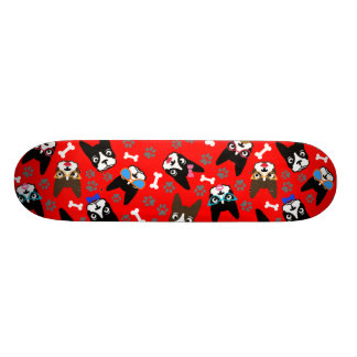 Boston Terrier Cute Mustache Funny Faces Skate Board Decks