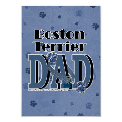 Boston Terrier DAD Print