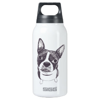 Boston Terrier Dog ARt by Carol Iyer Insulated Water Bottle