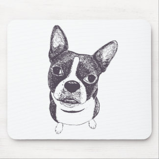 Boston Terrier Dog ARt by Carol Iyer Mouse Pad