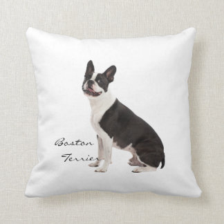 Boston Terrier dog beautiful photo, custom cushion