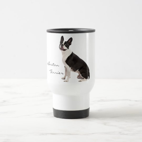 Boston Terrier dog beautiful photo custom, gift Travel Mug