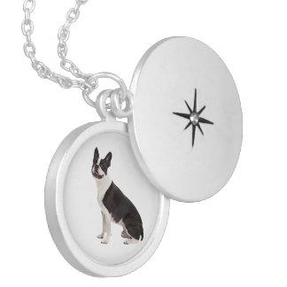 Boston Terrier dog beautiful photo locket, gift Round Locket Necklace