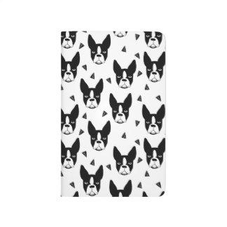 Boston Terrier Dog Black And White / Andrea Lauren Journals