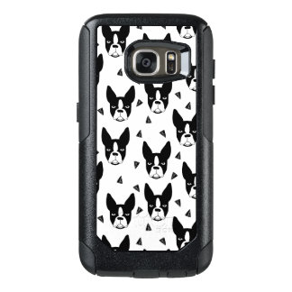 Boston Terrier Dog Black And White / Andrea Lauren OtterBox Samsung Galaxy S7 Case