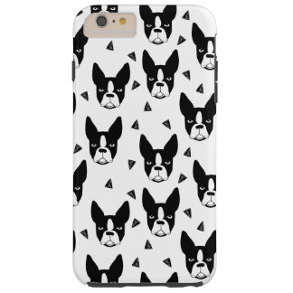 Boston Terrier Dog Black And White / Andrea Lauren Tough iPhone 6 Plus Case