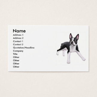 Boston Terrier Dog Business Card