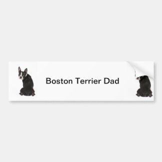Boston Terrier Dog Dad Bumper Sticker