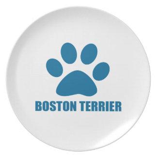 BOSTON TERRIER DOG DESIGNS PLATE
