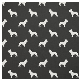 Boston Terrier dog fabric - black and white