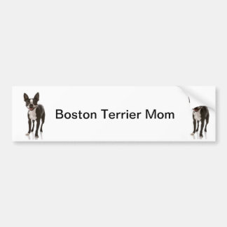 Boston Terrier Dog Mom Bumper Sticker