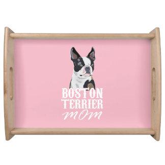Boston Terrier Dog Mom Serving Tray