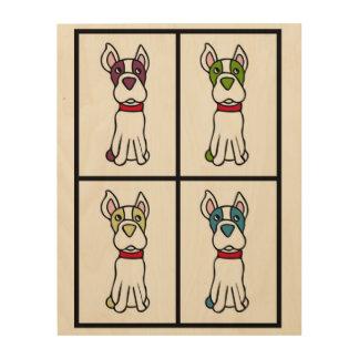 Boston Terrier Drawing Wood Wall Art