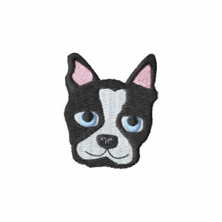 Boston Terrier Embroidered Shirt