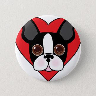 Boston Terrier Face 2 Inch Round Button