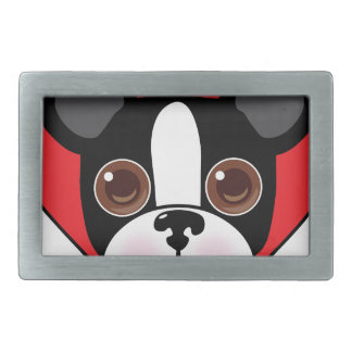 Boston Terrier Face Belt Buckle