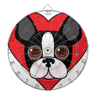 Boston Terrier Face Dartboard