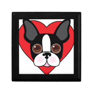 Boston Terrier Face Gift Box