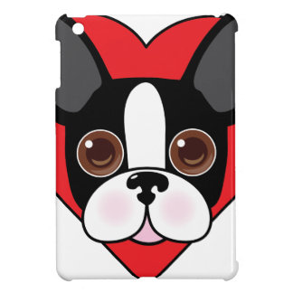 Boston Terrier Face iPad Mini Cover