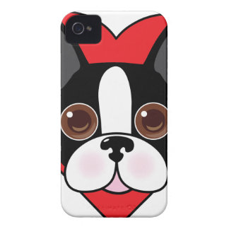 Boston Terrier Face iPhone 4 Cover
